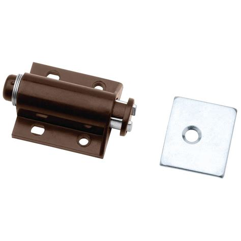 touch latches for cabinet doors liberty 2 in brown spring loaded single magnetic touch