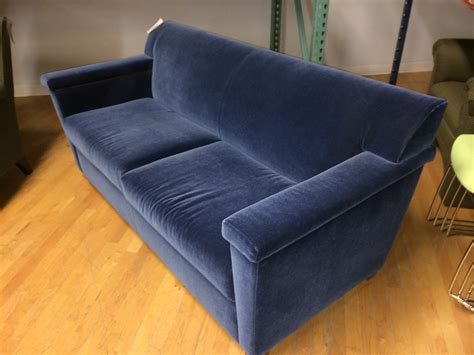 blue velour sofa f1 pre owned blue velour sofa lexington lexington