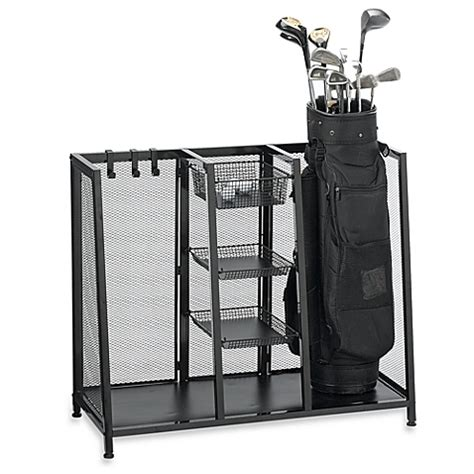 Golf Club Storage Garage by Metal Two Bag Golf Organizer Www Bedbathandbeyond