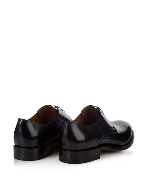 acne studios shoes acne studios leather derby shoes in black for lyst