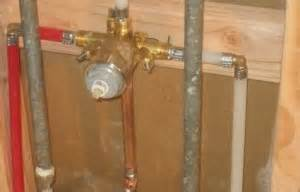 install new bathtub and shower faucet mock plumbing