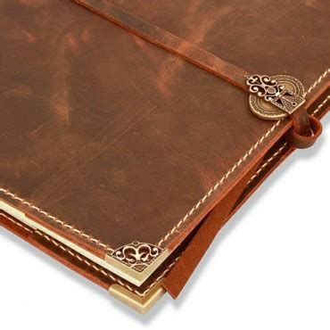 Handmade Journals Uk - handmade leather journal 21x30