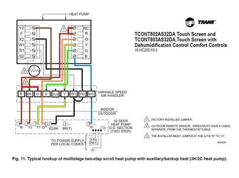 trane xv95 thermostat wiring diagram 36 wiring diagram
