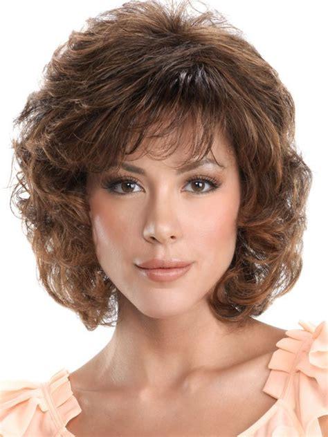 Curly Medium Wig classic brown medium curly hair wigs