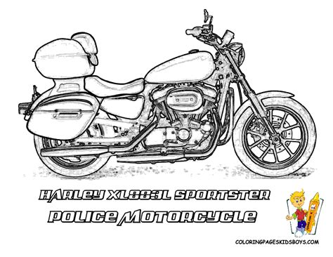 coloring pages police motorcycle harley davidson coloring pages harley davidson free