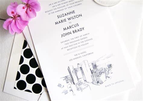 Wedding Invitations Los Angeles by Los Angeles Skyline Wedding Invitations
