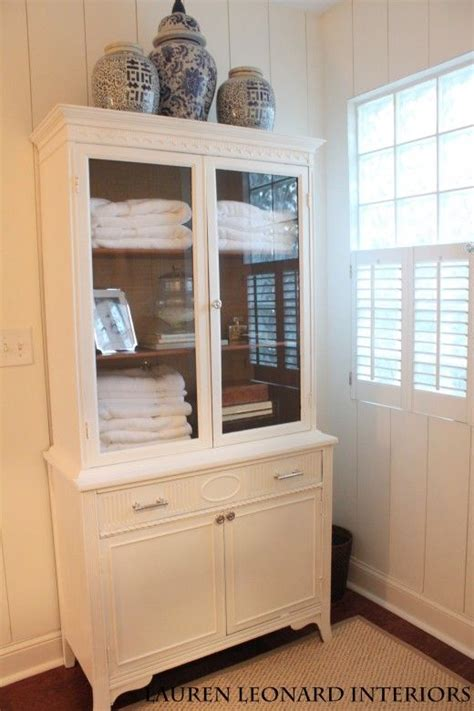 repurposed bathroom cabinet repurposed china cabinet for bathroom storage one room