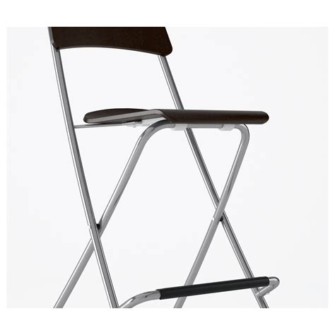 ikea folding stool franklin bar stool with backrest foldable brown black