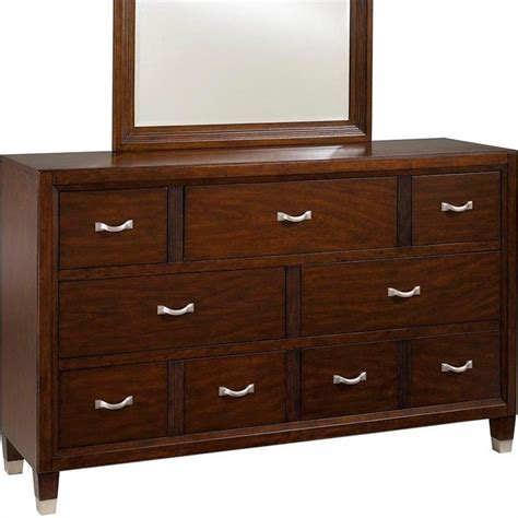 broyhill bedroom dressers broyhill eastlake 7 drawer double dresser in warm brown