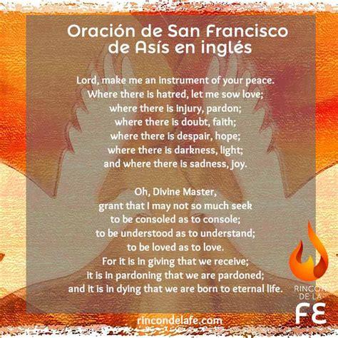imagenes oraciones catolicas en ingles oraci 243 n de san francisco de as 237 s en ingl 233 s francisco de as 237 s
