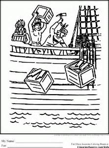 boston tea party printable free coloring pages art coloring pages