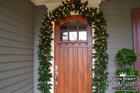 How To Decorate Your Front Door Garland For Christmas Front Door Garland