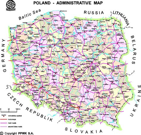 printable map of poland printable maps poland maps printable maps of poland for download