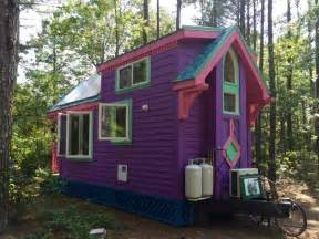tiney houses sold purple ravenlore house as seen on hgtv tiny house