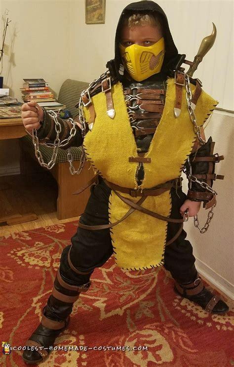cool homemade scorpion mortal kombat halloween costume