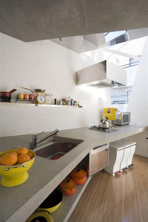 Kitchen Tokyo Modern Minimalist Small House In Tokyo