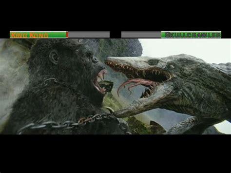 king kong vs skullcrawler...with healthbars youtube