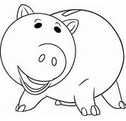Hamm Toy Story Coloring Pages  Free For Kids