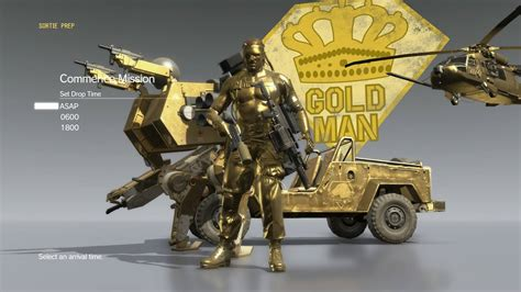 G P Special Forces 100m Metal B Type solid gold spoilers for unlockables metalgearsolid