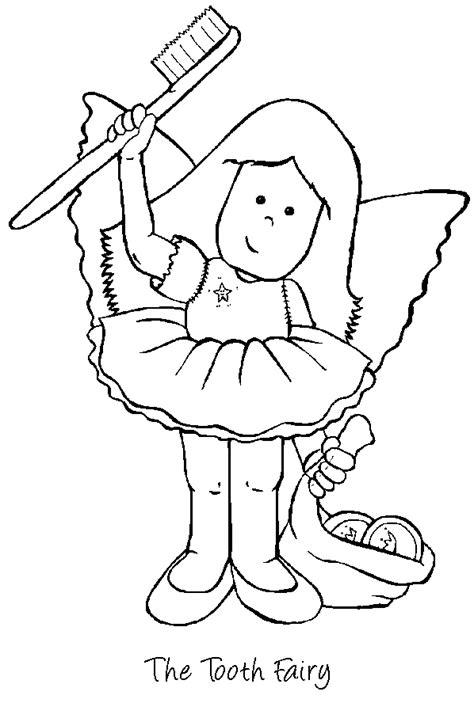 coloring page tooth fairy desenhos menina fada com escova de dentes na m 227 o