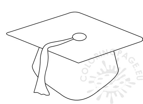 graduation hat template preschool graduation cap pattern coloring page