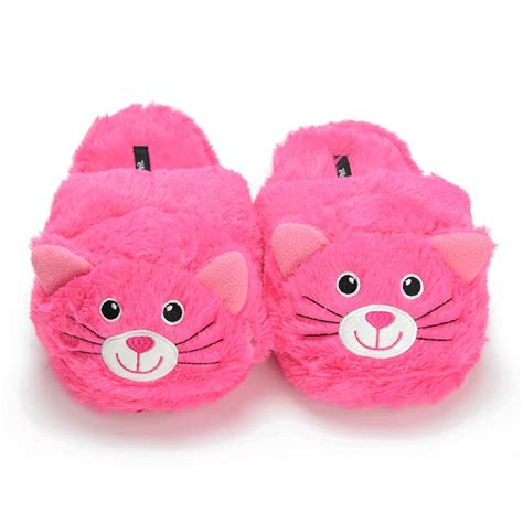 s animal slippers s pink cat animal slippers soft cozy warm indoor