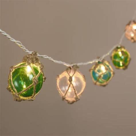 Twine Wrapped Glass 10 Bulb String Lights World Market Glass String Lights