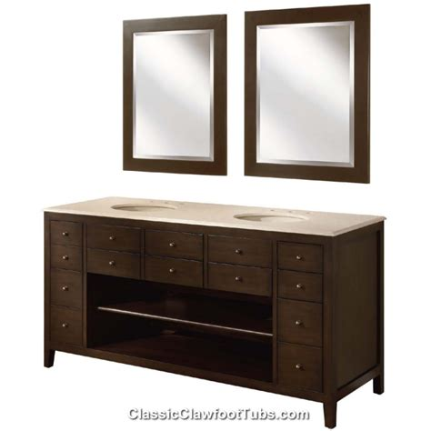 68 bathroom vanity 68 quot double bathroom vanity classic clawfoot tub
