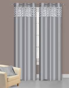 Silver Sparkle Curtains Pair Of Sparkle Silver Faux Silk Window Curtain Panels W Grommets Ebay