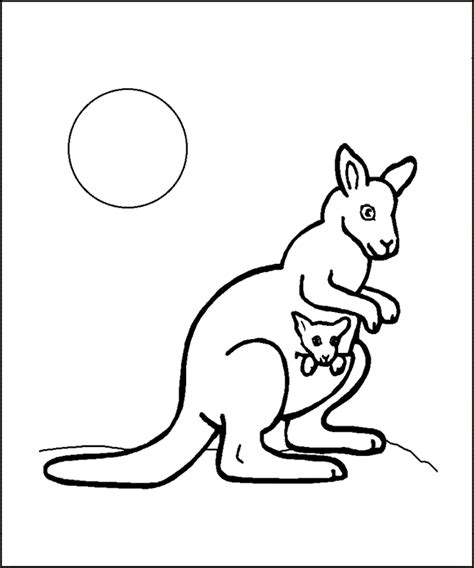 printable coloring pages kangaroos free printable kangaroo coloring pages for kids