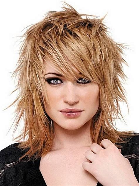 edgy haircuts with side bangs messy edgy medium hairstyles with side bangs for straight