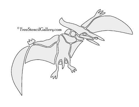 printable dinosaur stencils dinosaur pterodactyl stencil free stencil gallery