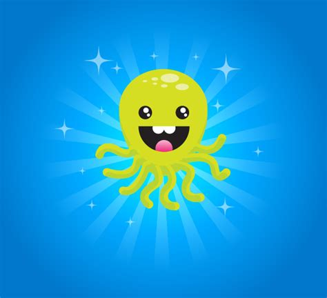 illustrator tutorial octopus create a super happy octopus character