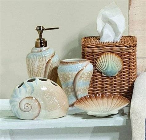 Bathtub Relaxation Accessories by Seashell Bathroom Accessories Theme Office And Bedroom