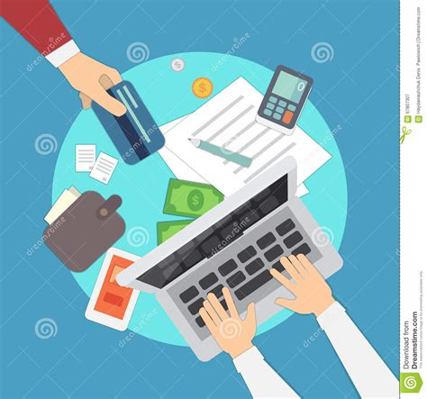 Colorful Set mobile payments vector illustration mobile banking or banking human overhead