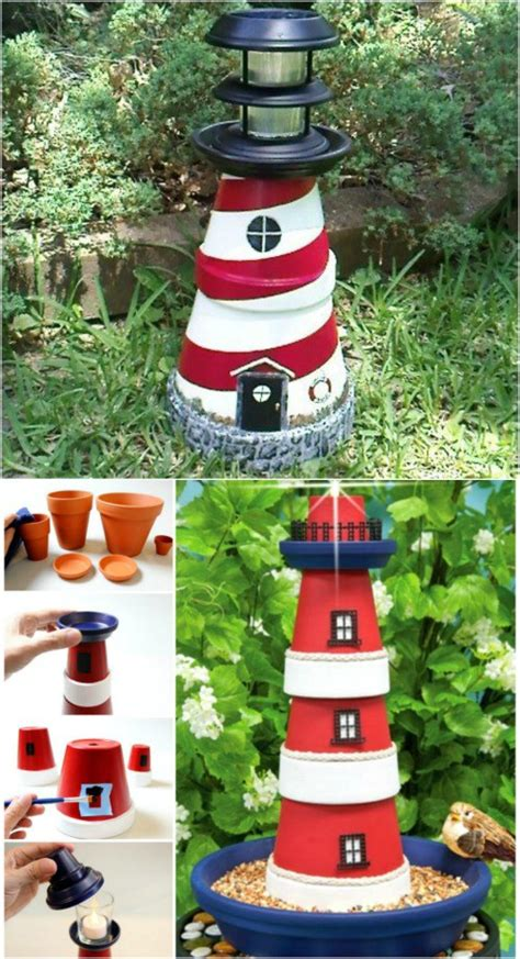 Lighthouse Garden Decor 27 Decorative Terra Cotta Crafts To Beautify Your Outdoor Spaces Diy Crafts