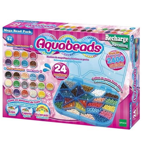 Ac Aqua 1 2 Pk aquabeads mega pack 2400 perles achat vente jeu de