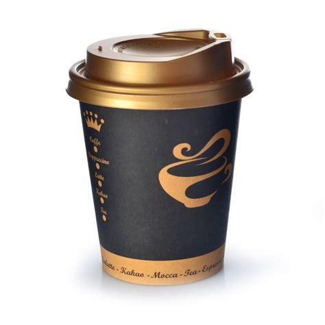 To Go coffee to go becher 0 3l golden cup 200 stk mit deckel gold