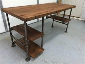 wood table desk 25 best ideas about rustic desk on reclaimed