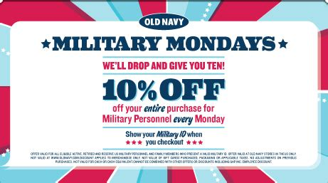 Can You Use A Footlocker Gift Card Online - discounts deals 4 military military mondays 10 at old navy