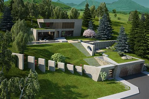 Sichtschutz Terrasse Modern 693 by House Garden On A Steep Terrain On Behance
