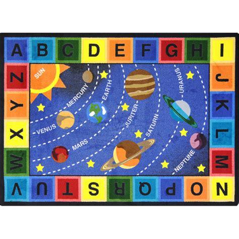 Joy Carpets 1677d Space Alphabet Rug 7 8 Quot X 10 9 Alphabet Rug For Room