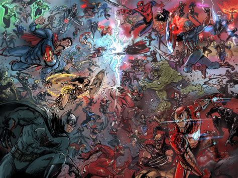 marvel vs dc wallpaper by artifypics on deviantart dc vs marvel 2016 by timothylaskey on deviantart