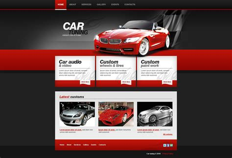 template tuning car tuning website template 28102