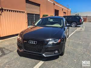 front grille for 2009 12 audi a4 s4 b8 rs4 style black