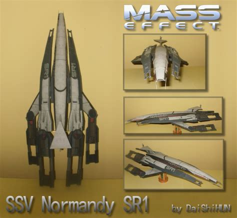 Mass Effect Papercraft - mass effect 2 ssv normandy sr1 papercraft papercraft