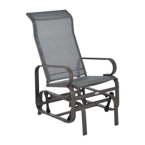 Rocking Garden Lounger Outsunny Patio Glider Chair Aosom Ca