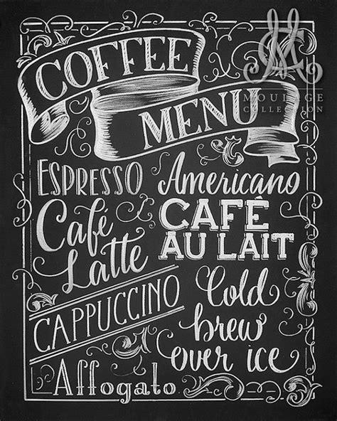 menu design lettering coffee menu printable chalkboard style drawing instant