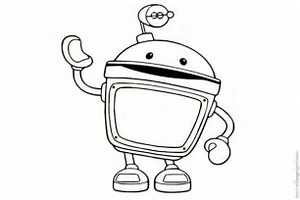 umizoomi bot coloring page download