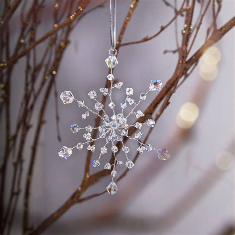 Handmade Tree Decorations - handmade snowflake decoration by rosie willett